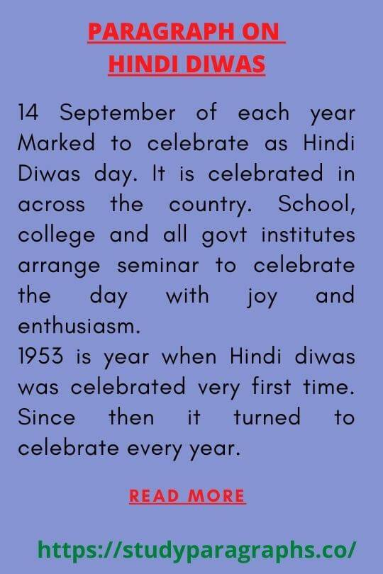 Paragraph On Hindi Diwas