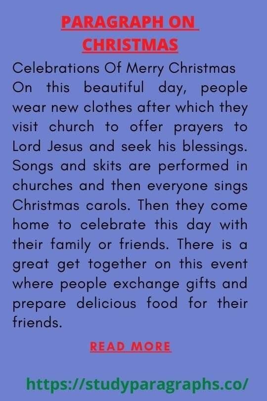 Merry Christmas Paragraph