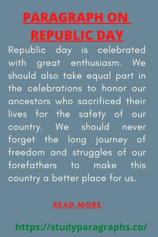 Importance of republic day of india Paragraph