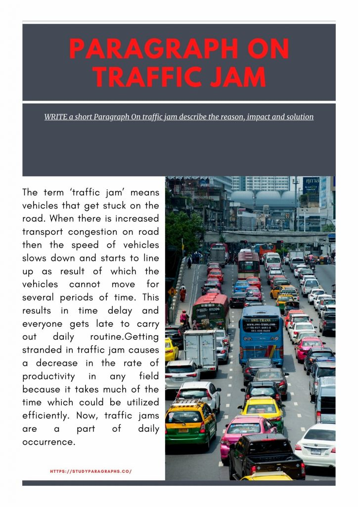 Paragraph about traffic jam