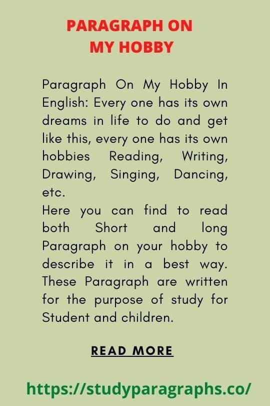 My hobby Paragraph