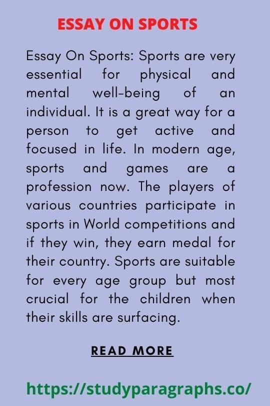 Short Essay on sports and games