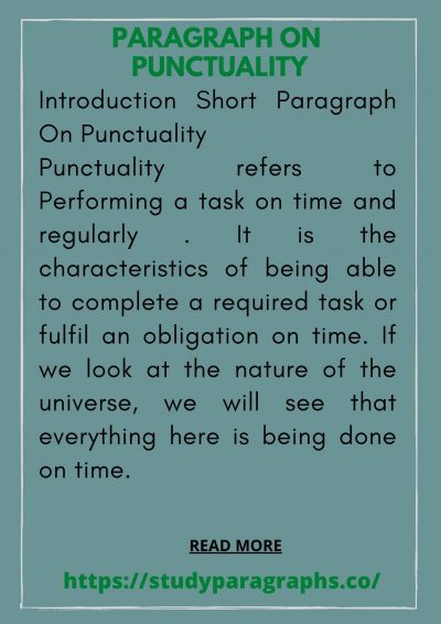 paragraph about punctuality