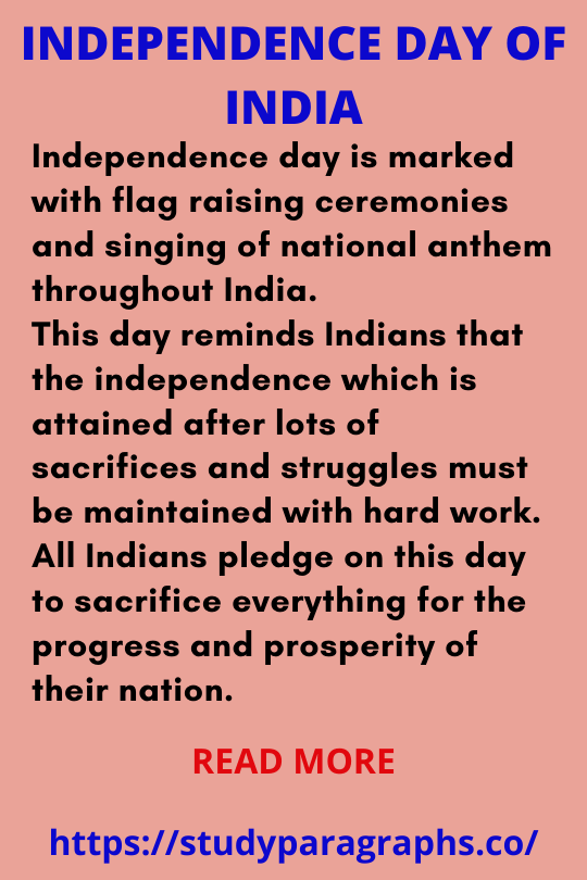 Independence day 2021 paragraph
