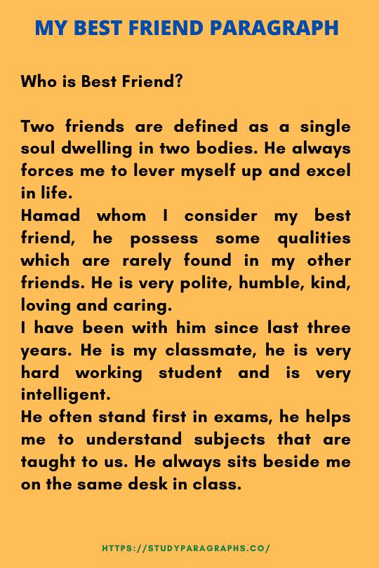 Paragraph on my best friend
