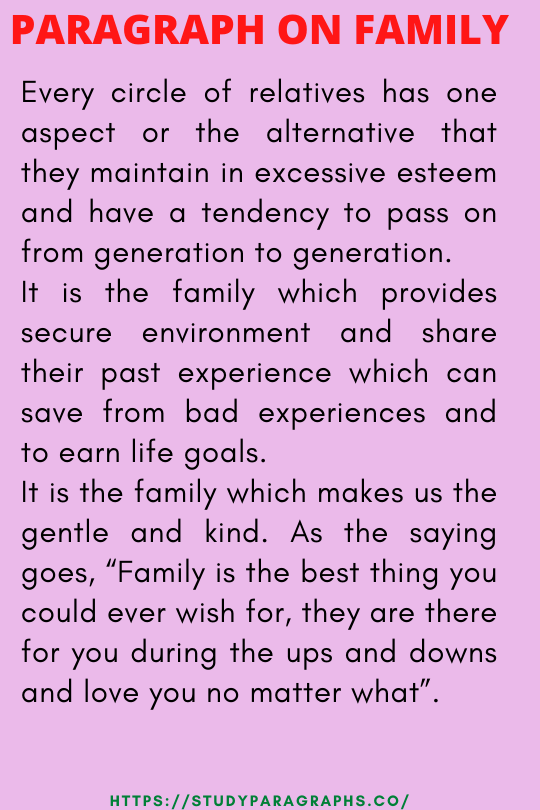 About family paragraph writing