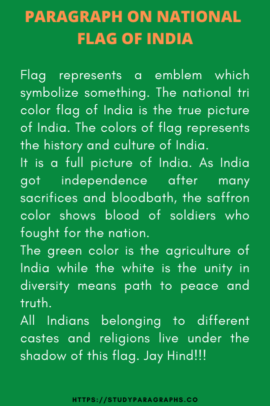 Our National Flag of India