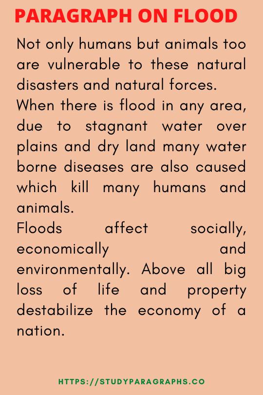 Affect of flood paragraph